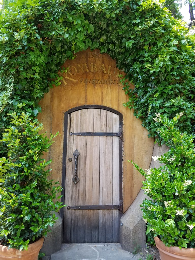 An intriguing door at Rombauer Vinyards