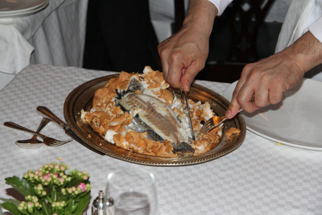 Salt-Baked Sea Bass