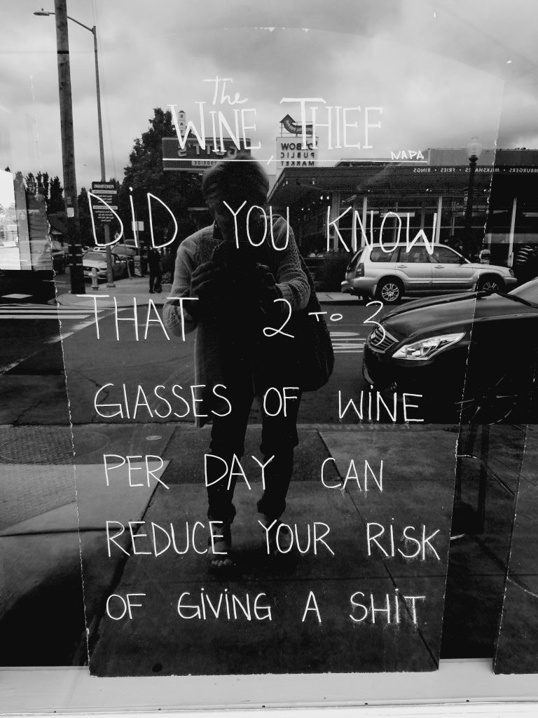Napa philosophy! Kinda like it!